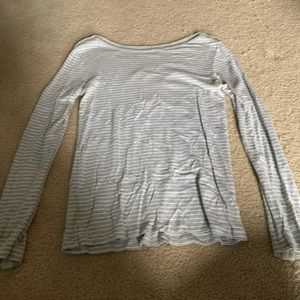 Grey striped long sleeve